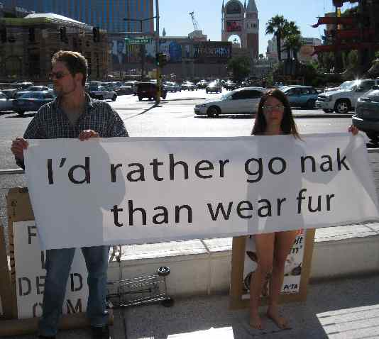 FUR PROTEST Las Vegas Nov 24th 2006 Las Vegas