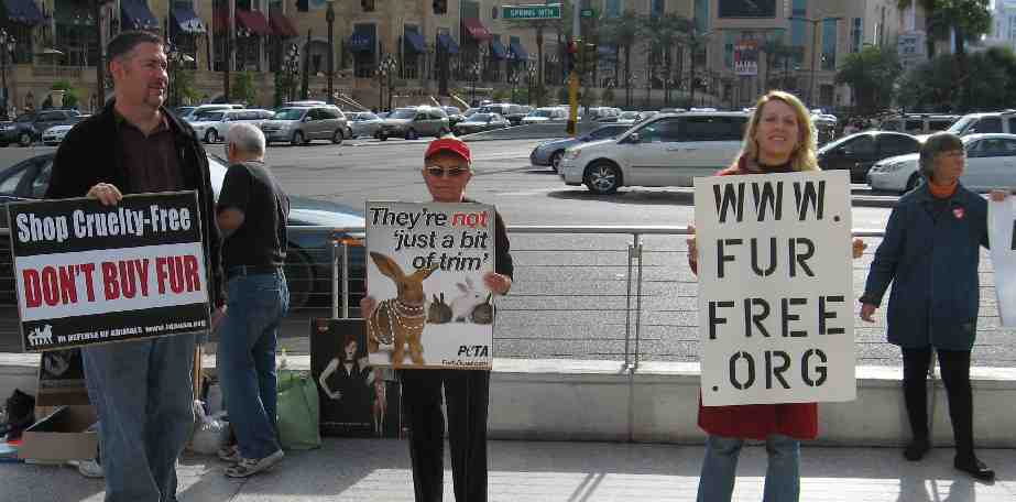 FUR PROTEST Las Vegas Nov 28th 2008 Las Vegas