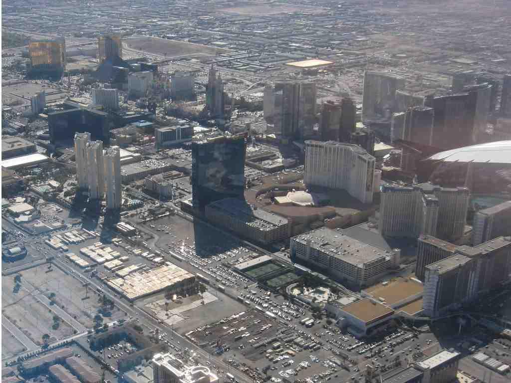 Arial View of Las Vegas