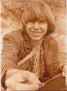 Photo of ARCHURE (Chris Holley) around 1971 in Mendocino, Headlands