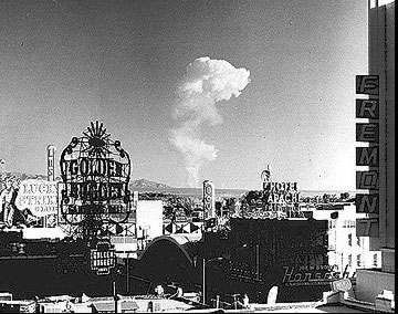 Nuclear Test as seen from Downtown Las Vegas