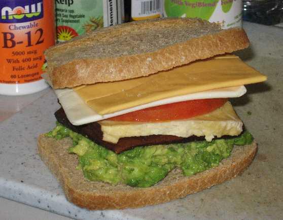 Tofu & Tofutti Sandwich